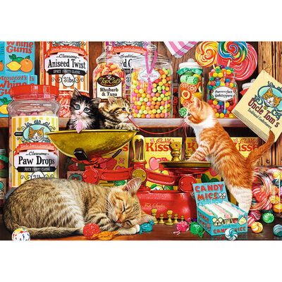 Cat's Sweets 1000 Piece Jigsaw Puzzle image number 2