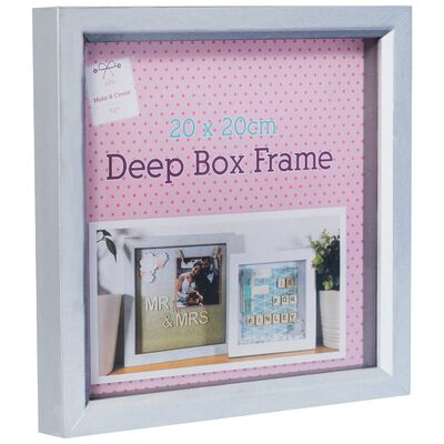 Grey Deep Box Frame: 20cm x 20cm image number 1
