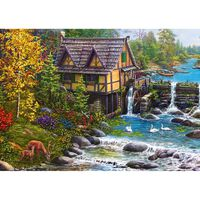 Mill by the River 500 Piece Jigsaw Puzzle