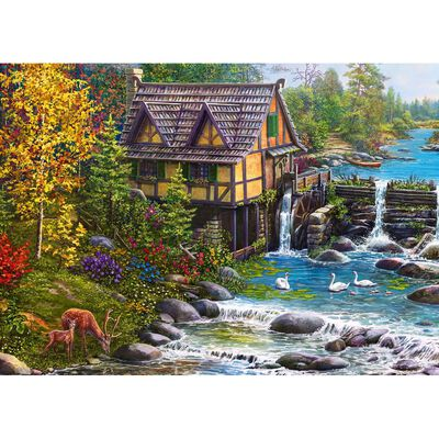 Mill by the River 500 Piece Jigsaw Puzzle image number 2