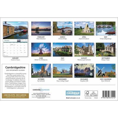 Cambridgeshire 2020 A4 Wall Calendar image number 2