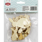 Wooden Bunny Shapes - 30 Pack image number 3