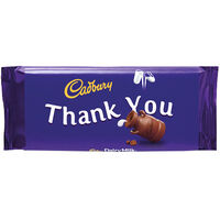 Cadbury Dairy Milk Chocolate Bar 110g - Thank You