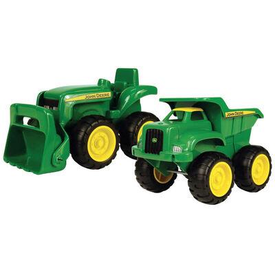 John Deere Mini Sandbox Tractor & Dump Set image number 1