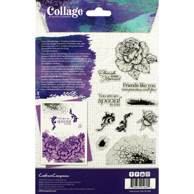 Crafter's Companion Collage Photopolymer Stamp - Cherish Every Moment image number 3