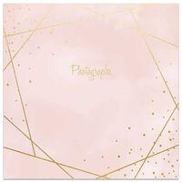 Rose Gold Foil Line Slip-In Photo Album