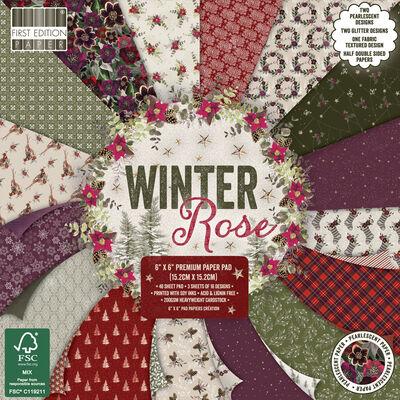 Winter Rose Premium Paper Pad - 6x6 Inch image number 1