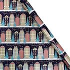 Assorted Navy Christmas Themed Roll Gift Wrap - 5m image number 4