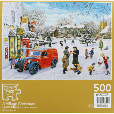 A Village Christmas 500 Piece Jigsaw Puzzle image number 3