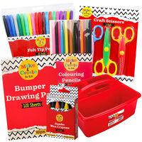 Kids Art Essentials & Caddy Bundle