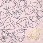 Hen Do Diamond Lunch Napkins - Pack of 16 image number 1
