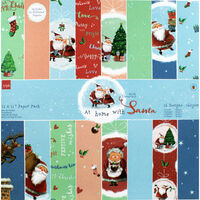 At Home with Santa Paper Pack - 12x12 Inch