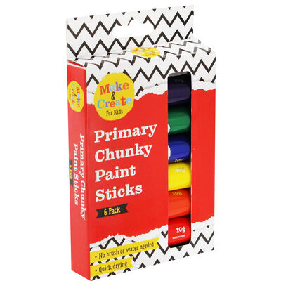 6 Chunky Paint Sticks image number 1