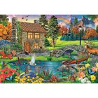 Cottage in the Mountains 6000 Piece Jigsaw Puzzle image number 2