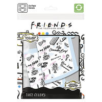 Friends Phrases Face Covering: Pack of 2