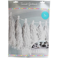 White Paper Tassel 3m Garland