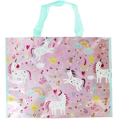Shopping Unicorn Giant Reusable Shopping Bag image number 1