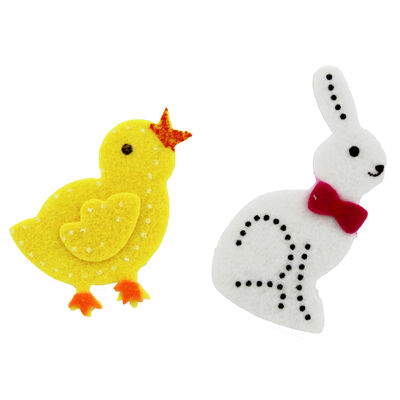 Self Adhesive Bunny and Chick Embellishments - 20 Pack image number 2