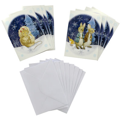 8 Peter Rabbit Christmas Cards in Tin - Cotton Tail image number 2