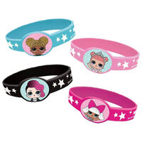 LOL Surprise Silicone Bracelets: Pack of 4