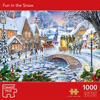 Fun in the Snow 1000 Piece Jigsaw Puzzle