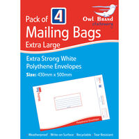 Extra Large Mail Bags Pack of 4