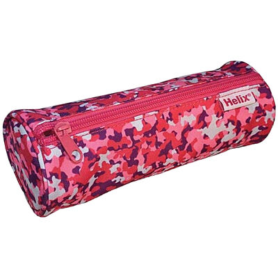 Helix Oxford Camo Pencil Case: Pink image number 1