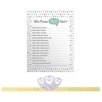 Baby Shower Game: Who Knows Mummy Best?