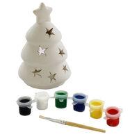 Paint Your Own Ceramic Christmas Tree Tea Light Holder