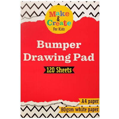 A4 Bumper Drawing Pad: 120 Sheets image number 1