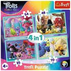 4 In 1 Trolls Jigsaw Puzzle Set image number 1