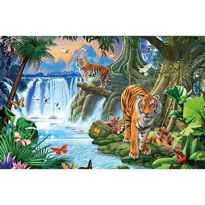 Tiger Streak 1000 Piece Silver-Foiled Premium Jigsaw Puzzle image number 2
