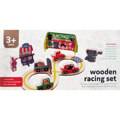 Wooden Racing Set image number 1
