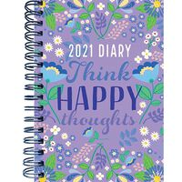 A5 Think Happy Thoughts 2021 Day a Page Diary