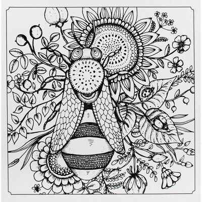 Colour Your Own Canvas with 6 Gel Pens: Bee image number 2