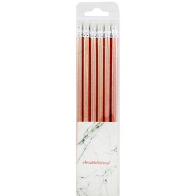 Rose Gold HB Pencils - 6 Pack image number 1