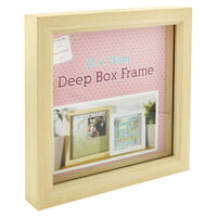 Natural Deep Box Frame - 15cm x 15cm