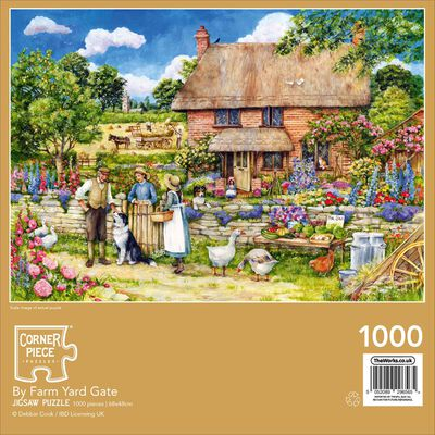 By Farm Yard Gate 1000 Piece Jigsaw Puzzle image number 3
