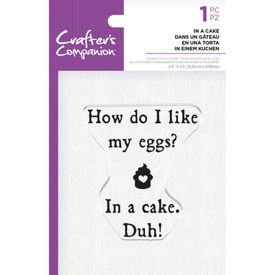 Crafters Companion Clear Acrylic Stamp - In a Cake image number 1