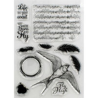 Crafter's Companion Collage Photopolymer Stamp - Born to Fly