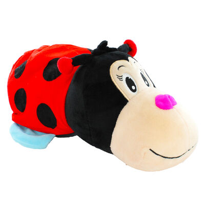 Reversimals 2-in-1 Plush Soft Toy - Ladybird and Bee image number 1