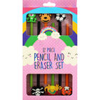 6 HB Pencils with Erasers - Assorted image number 2