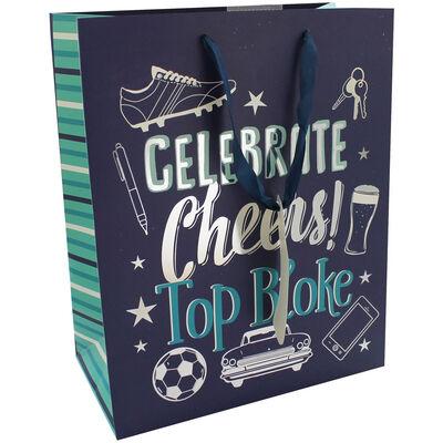 Small Top Bloke Blue Gift Bag image number 1