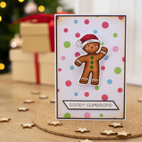 Gemini Stamp & Die Set: Wobbling Gingerbread Man