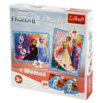 Disney Frozen 2 2-in-1 Jigsaw Puzzle Set image number 2