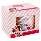 Disney Minnie Mouse Pink Stripe Ceramic Mug image number 1