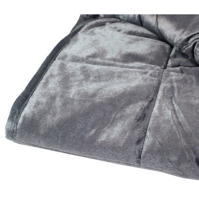 Grey Super-Soft Velvet Touch Weighted Blanket 150 x 200cm - 11.3kg image number 3