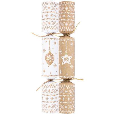 Eco-Friendly Bauble & Star Christmas Crackers: Pack of 10 image number 2
