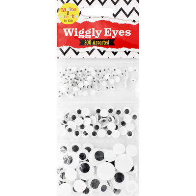 Assorted Wiggly Eyes: Set of 200 image number 1