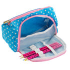 Blue Polka Dot Stay Organised Pencil Case Organiser image number 4